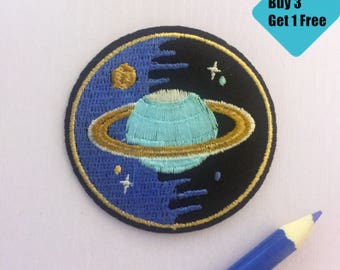 galaxy patch, saturn star patch, iron on patch, patches for jeans, space patch