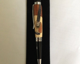 pen with inclusion (Corsican manufacturing)