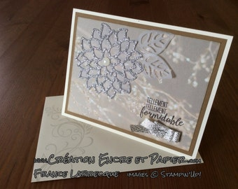 Greeting card / birthday wishes - friendship - encouragement = outline of brilliance and elegance flower