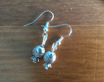 Fish earrings with 925 silver hooks