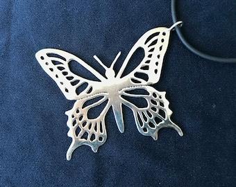 Butterfly Necklace, Butterfly Pendant, Handmade Butterfly Necklace, Silver Butterfly Necklace, Silver Pendant, Everyday Necklace