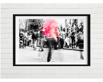 Girl on fire - signed print