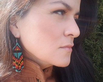 Arizona Sunset Authentic Native American Earrings