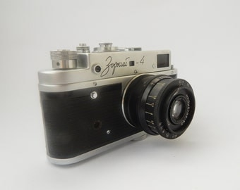 Film Сamera Zorki 4 Vintage Camera Soviet Retro Camera Old Fashioned Camera Used Lenses Antique Cameras Photographer Gift Collectible