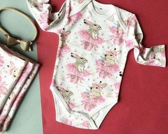 Organic Baby Onesie, baby bodysuit, baby onepiece, long sleeve onesie