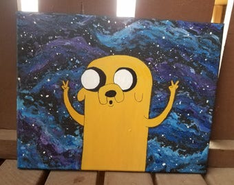 Original Adventure Time Jake Galaxy Painting