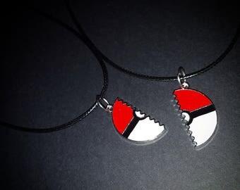 Pokeball Best Friend Necklaces