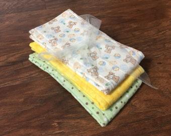 Cloth Diaper, Prefold Diaper w/ Microfiber, Reusable Diaper, Burp Cloth, Baby Branch Boutique, Trifold Microfiber Soaker Booster Insert