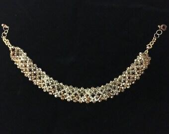 Necklace of Swarovski yellow