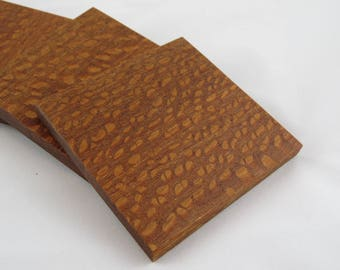 Set of 4 Lacewood Coasters