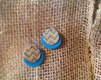 Polymer Clay and metal earrings