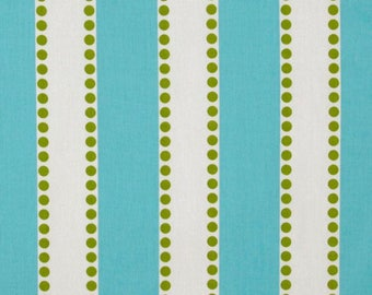 Girly Blue and Chartreuse Lulu Stripe Fabric by Premier Prints no.142