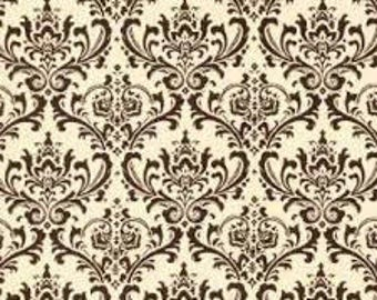 Chocolate Brown Madison Damask Fabric by Premier Prints no.156