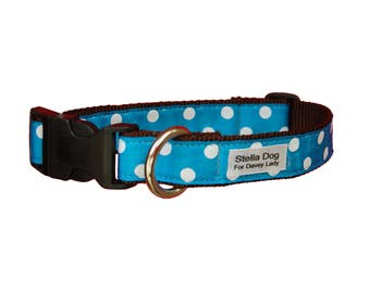 Blue Large Polka Dot Collar *FREE SHIPPING*