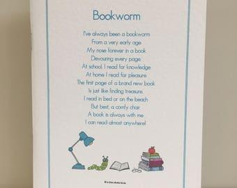 Bookworm Notebook, Bookworm Notepad, Book Lover Notebook, Book Lover Notepad, Gift for Book Lover, Gift for Bookworm, Gift for Her