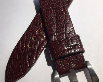 I sell Handmade ostrich strap Strap 22 mm
