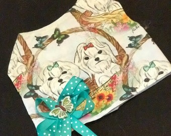 Maltese Dog Designer Print Cotton Vest