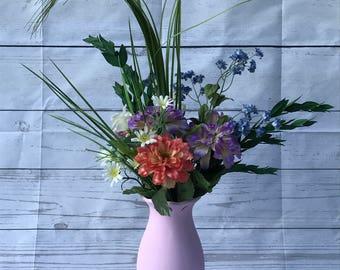 Spring Floral Mix in Pink Vase
