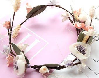 Maggie Magnolia Silk Flower Crown - Hair Vein / Wedding / Bridesmaids / Prom