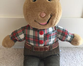 Arthur 1996 plush toy friend brain
