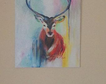 Canvas 50X70cm acrylic deer