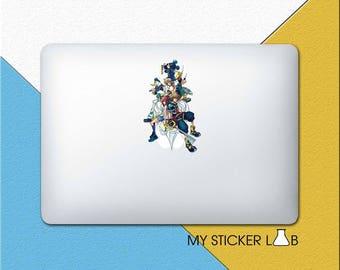 Sora Kingdom Hearts MacBook Decal Sora Kingdom Hearts MacBook Sticker Kingdom Hearts Decal Sora Sticker Roxas Decal Kairi Goofy bn217bb