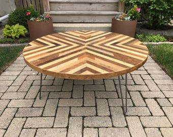 Reclaimed Wood Lath Coffee Table