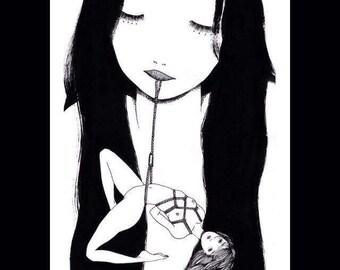 Sérigraphie【help the little fish】limit 20 illustration  (silkscreen)