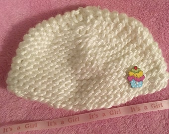 newborn girl knit hat
