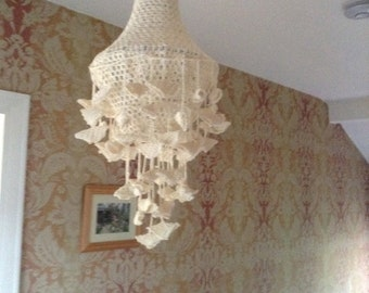 Crochet chandelier