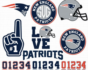 New England Patriots- Cuttable Design Files(Svg, Eps,Dxf, Jpg) For Silhouette Studio, Cricut Design Space, Cutting Machines,Instant Download