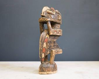 Vintage Hand Carved Tribal Statue