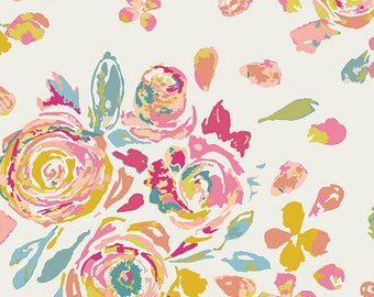 Knit Swifting Flora Fond // Floral // Art Gallery Fabric //