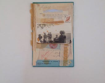 Mothers day out // original collage on book cover art // retro vintage mixed media UK seller