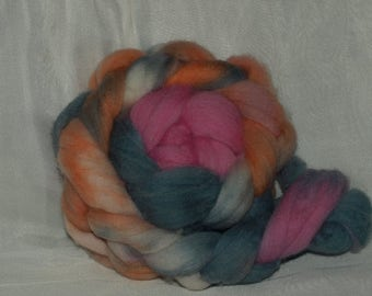 Polwarth combed tops hand dyed