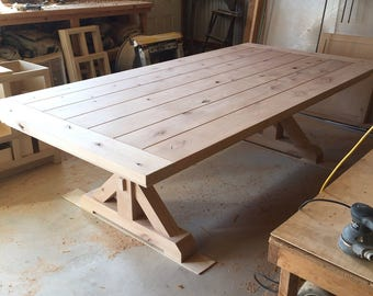 Farmhouse Dining Table - Trestle Style - LOCAL PICKUP ONLY