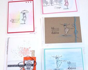 Set of 5 Handmade BIRTHDAY GREETING CARDS Stampin Up