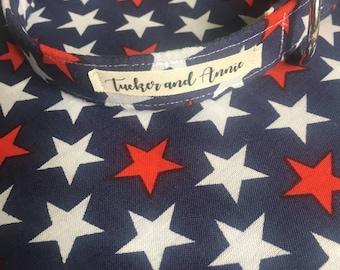 Custom Handmade Dog Collar and Matching Bandana in 'Forever Stars'