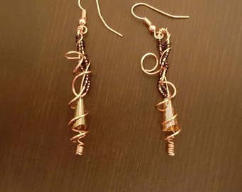 Wire-Wrapped Earrings