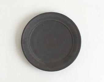 Plate 5.9 in (Black Matte Glaze), Made to Order in 2 months ; Yamato Kobayashi (16006102-5B)