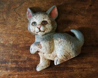 Vintage Cast Iron Kitten Door Stopper