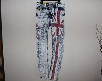 Britain Flag Jeans Size 3