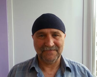 Mens Skullcap Cotton Cooling Crocheted