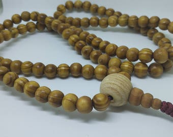 108 wood mala for meditation (10.2 mm)