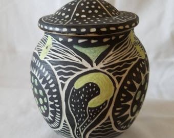 Hand Made Pottery Jar #1