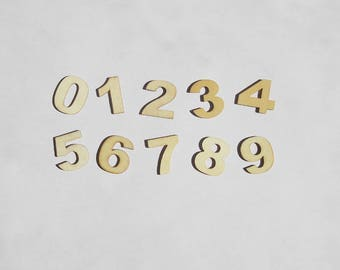 Wooden numbers set of 30 wood numbers 0 to 9 for wedding decor birthday party scrapbooking