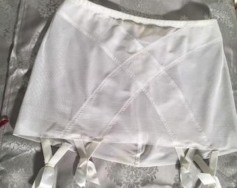 girdle garter belt, White, size S, small, NEW
