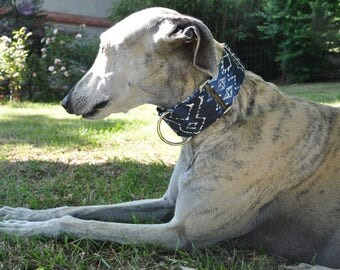 Collar adjustable martingale for dogs, Greyhound, ethnic, galgo, whippet, greyhound, podenco, lurcher, saluki