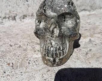 Stunning Pyrite Skull