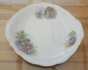 Queen Anne cottage cake plate